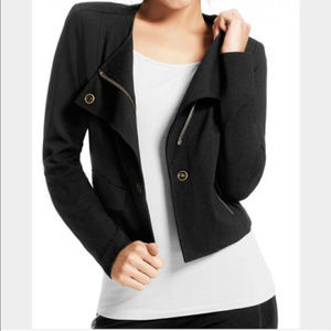 CAbi Black Jacket Knit SZ L Style 615